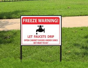 Custom freeze warning signs. Ready within 24 hours. 4