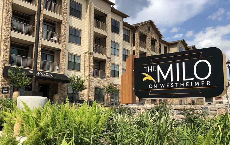The Milo exterior sign