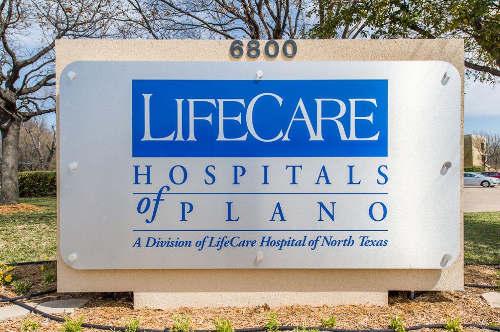 lifecare hosptial plano exterior sign