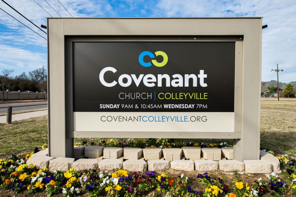 covenant church colleyville monument sign