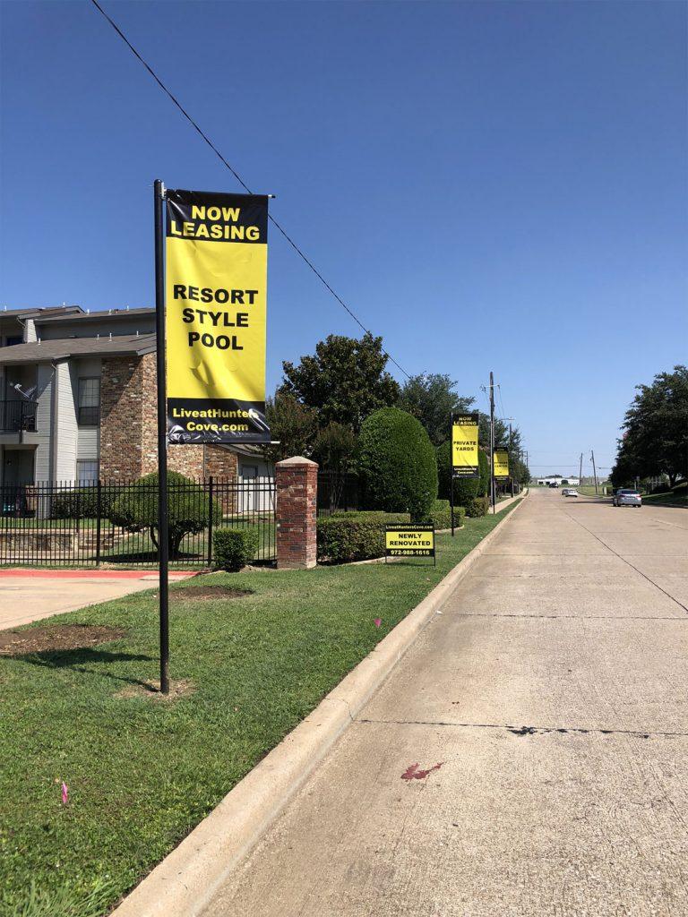 resort style pool banner