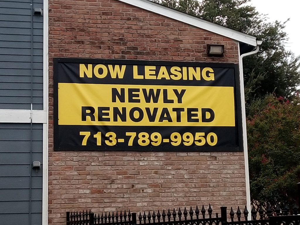 now leasing newly rennovated banner
