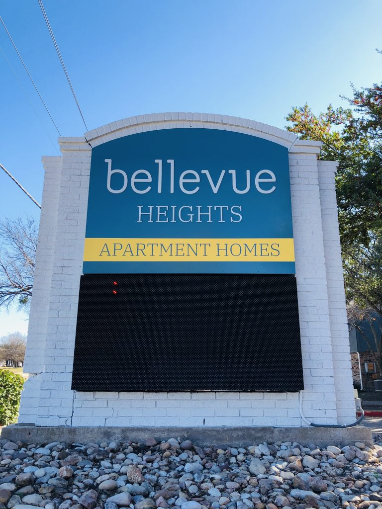 bellevue heights monument sign