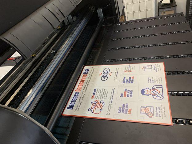 coronavirus sign printing