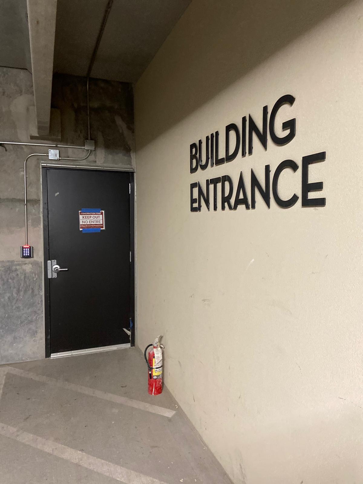 12 Building Entrance Sign