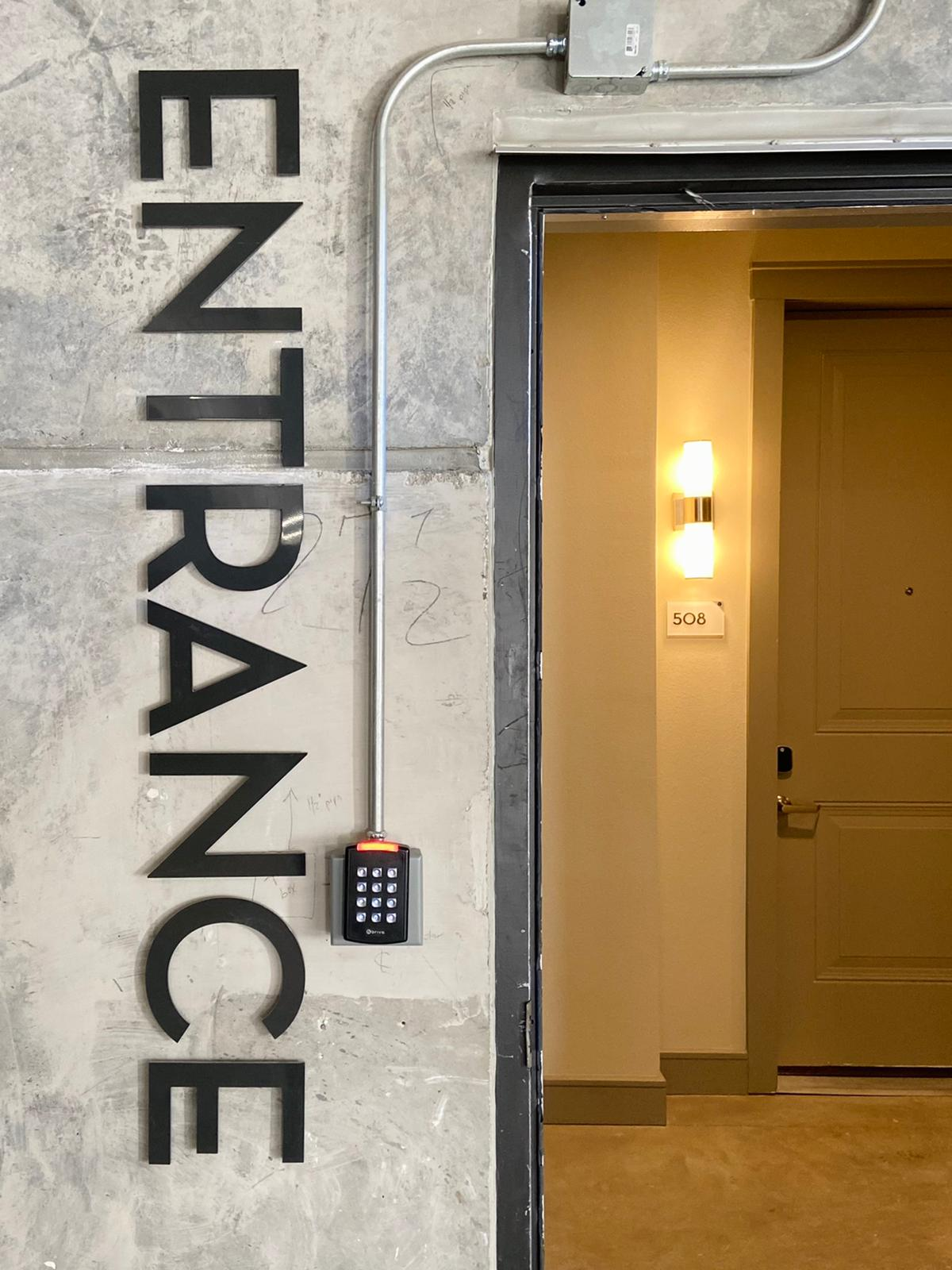 15 Building Entrance sign