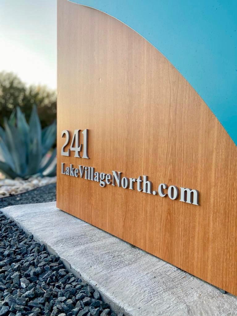 3 Modern Monument Sign wood
