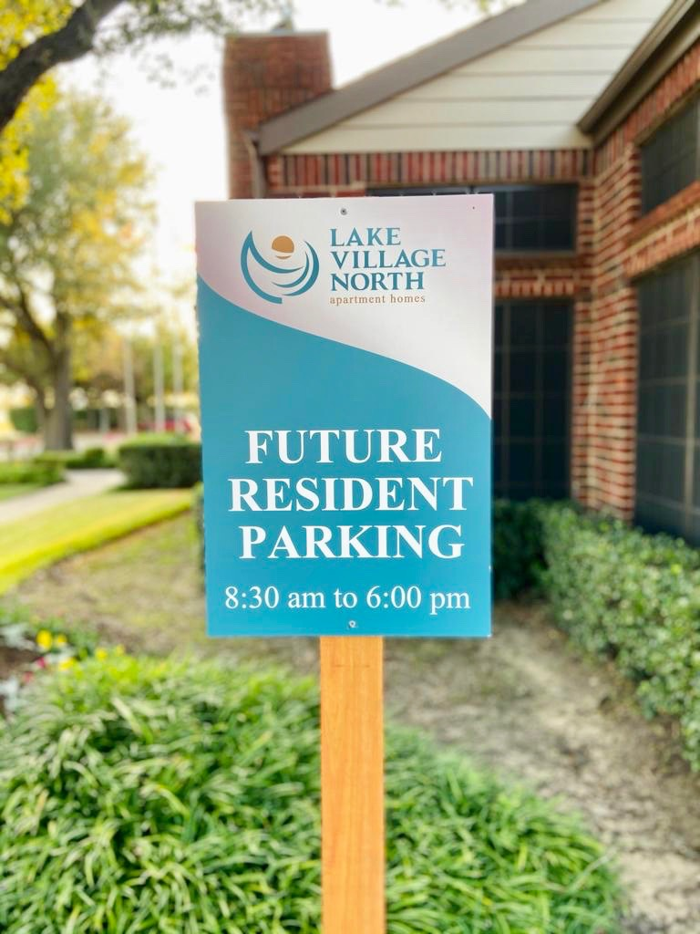 4 Future reesident parking signs