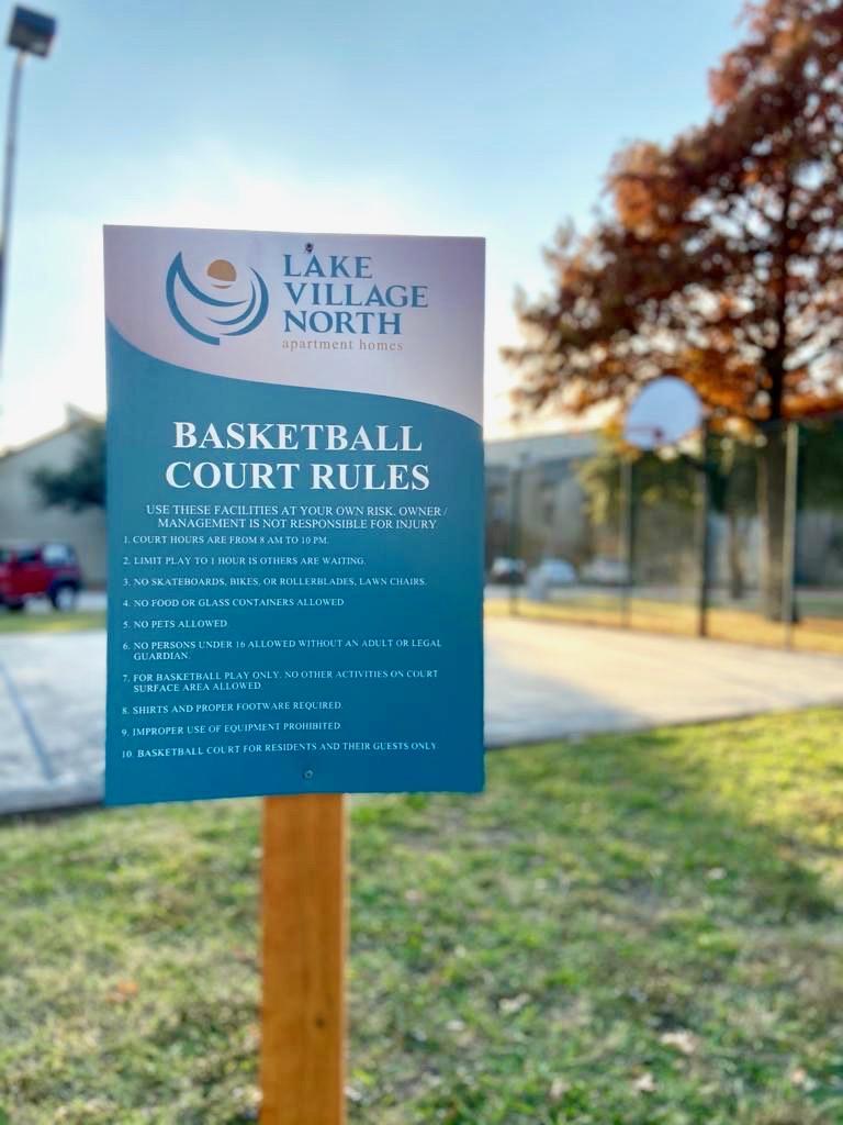 5 Basketball court sign