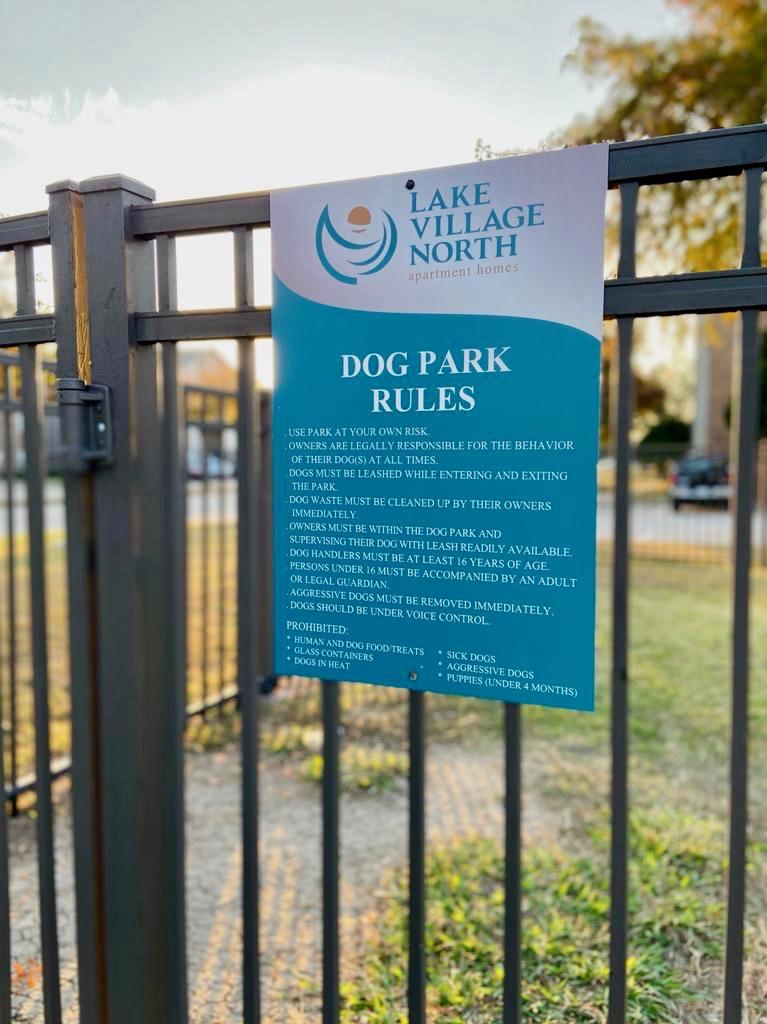 6 Dog park rules sign