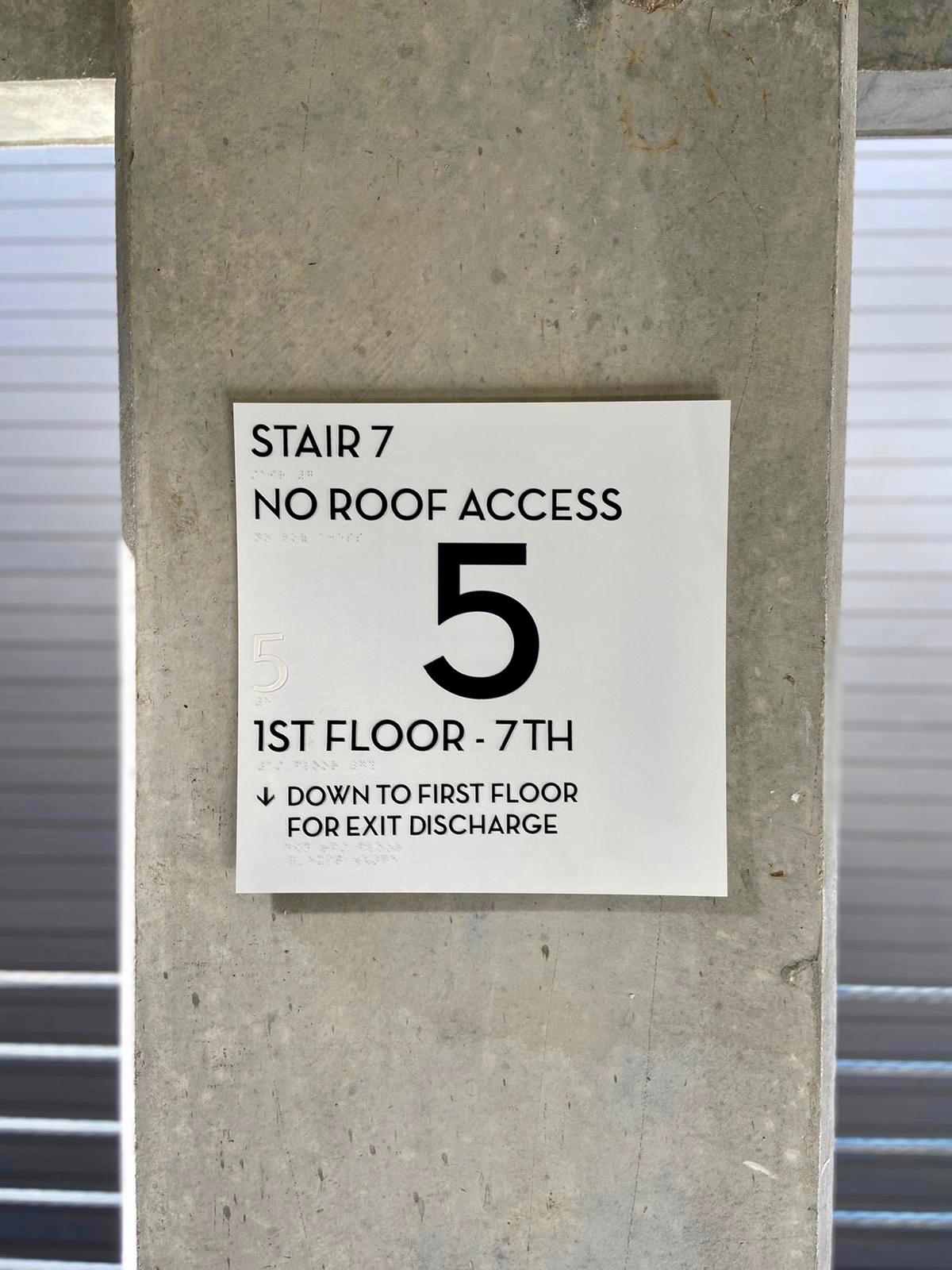 Garage Access sign 2