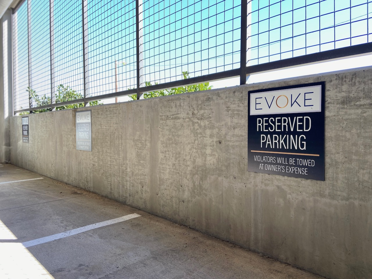 10 Reserved Parking Signs