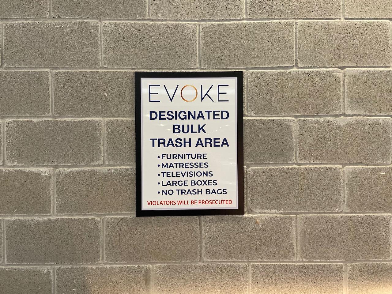 11 Dumpster Sign