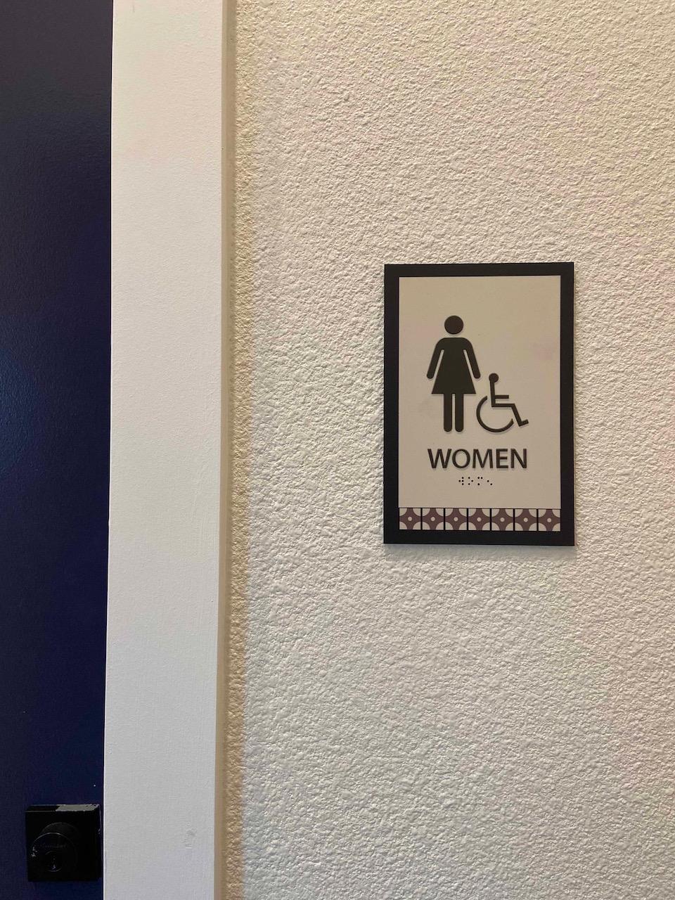 9 ADA Restroom Signs Dallas